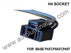 H4 Headlight Socket Pigtail