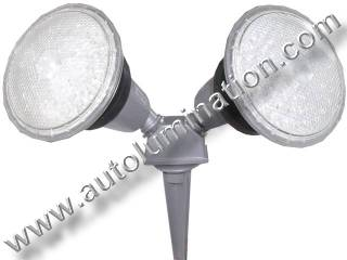 Dual Head PAR 38 Stake Yard Light Fixture